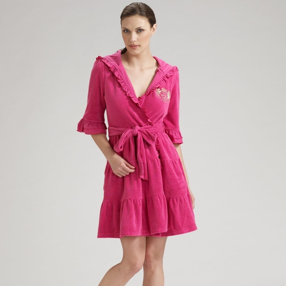 Hot House Bath Pink Juicy Robe Couture Sm Nwt Ruffle xCordeB